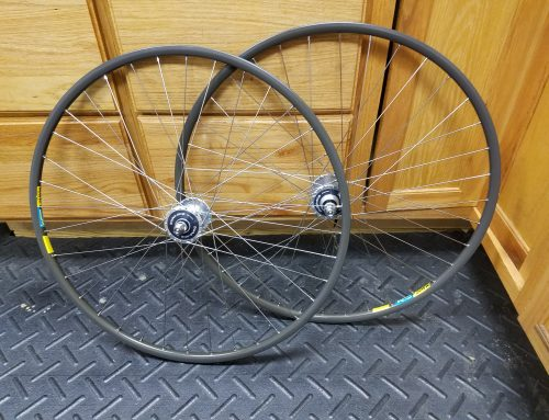 Completed Dura Ace Track Wheels with Mavic Open 4 CD Rims!